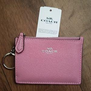 Coach Mini Skinny ID Case F12186 Tulip Leather